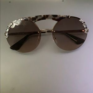 gemstone and cheetah print prada sunglasses
